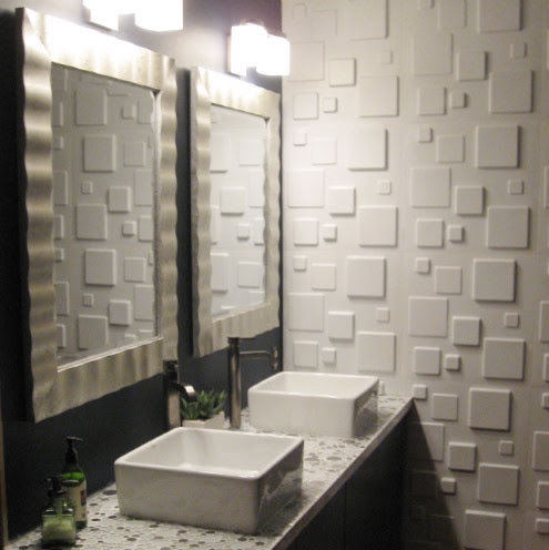 Give your bathroom a luxurious look with WallArt embossed ...