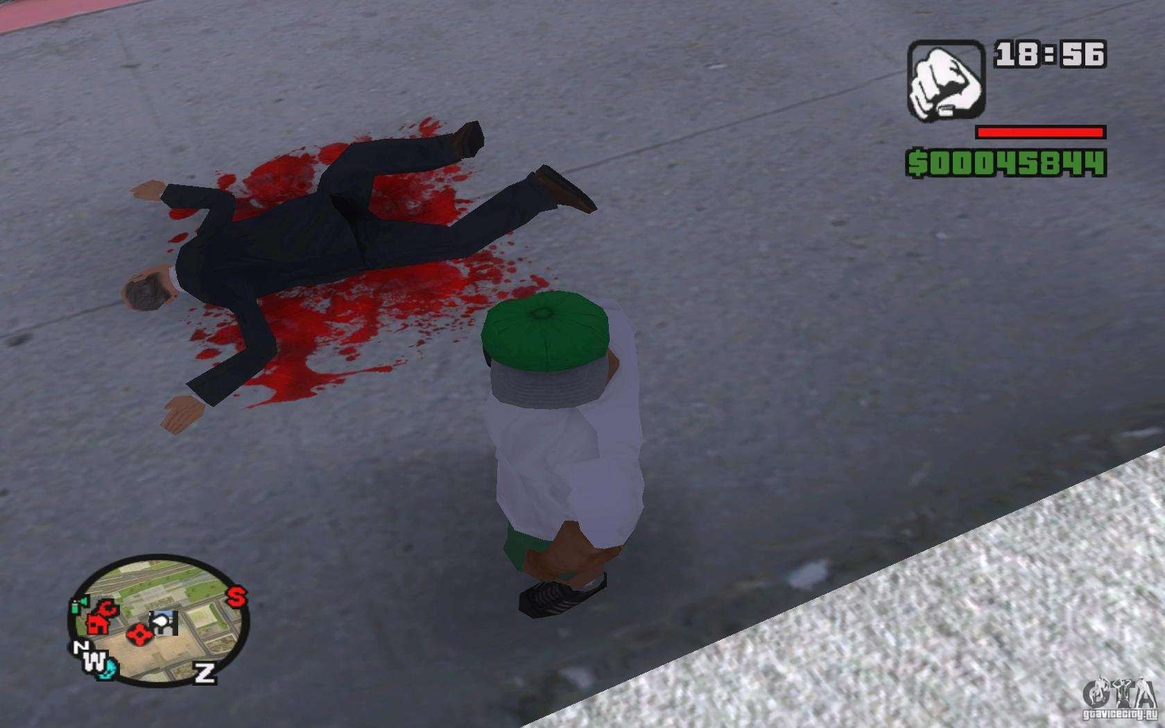 Real Blood For Gta San Andreas