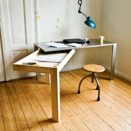 oficina minimalista para ahorrar espacio