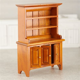 Miniature Welsh Walnut Wood Dresser   Living Room