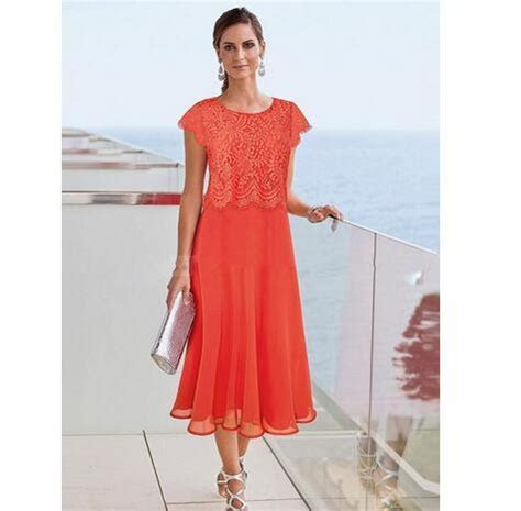 Cheap Tea Length Mother Of The Bride Dresses Beach Wedding