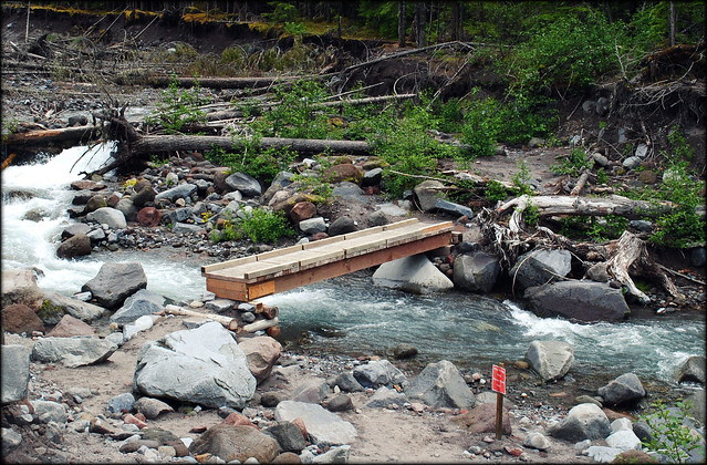 Seasonal Bridge - Ramona Falls Trail - Mt Hood