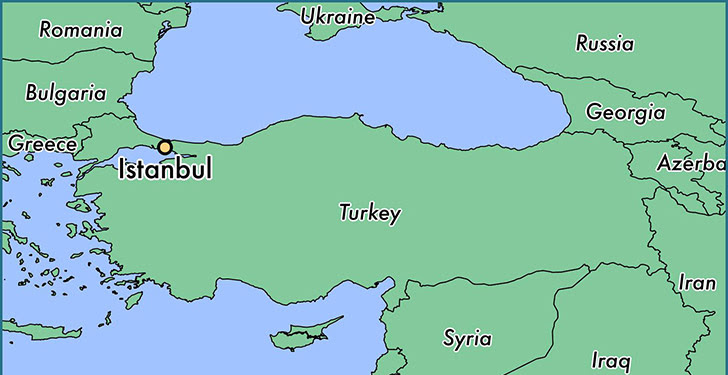 Show Istanbul On World Map