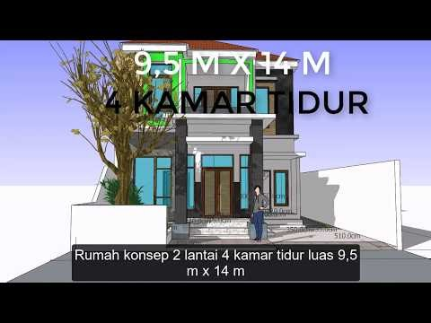top rumah konsep 2 lantai 4 kamar tidur sederhana, video