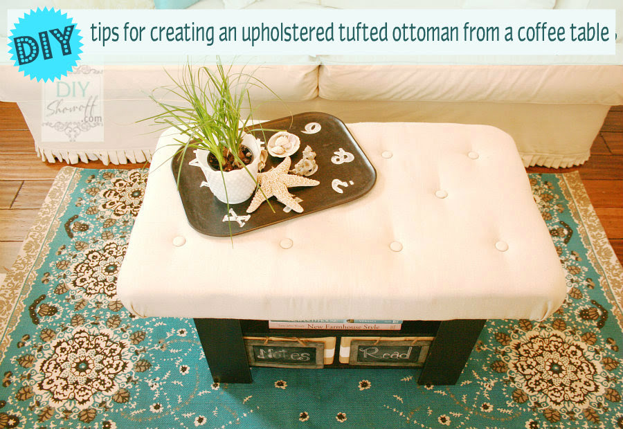 How To Make A Diy Upholstered Tufted Ottomandiy Show Off Diy Decorating And Home Improvement Blog