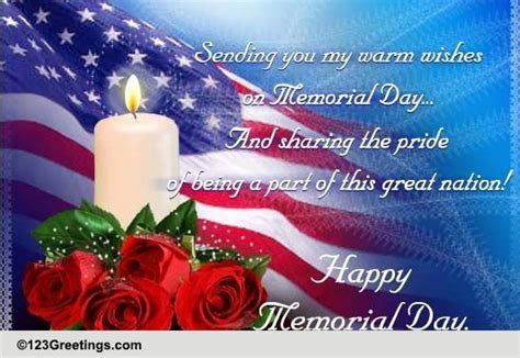 My Wishes For You On Memorial Day. Free Wishes eCards