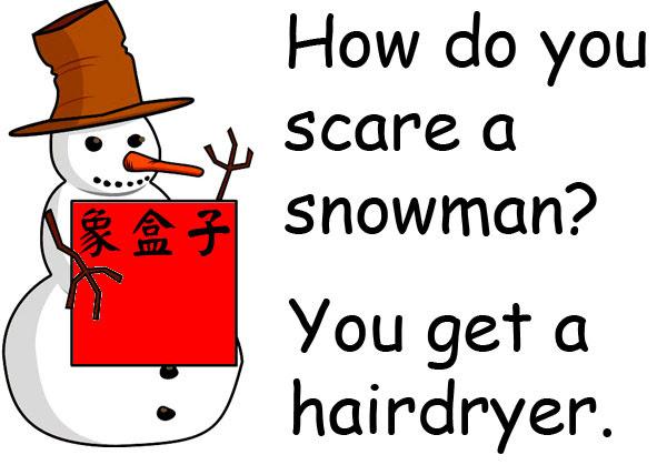 聖誕節 雪人笑話 Christmas snowman joke