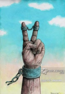 Peace in shackles.