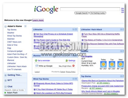 Ecco a voi il nuovo iGoogle!
