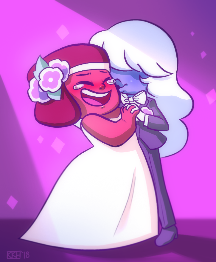 Tonight was pretty crappy, but my amazing girlfriend and some great friends helped me get out of my funk so doodled some Rupphire in their wedding outfits to end the night on a good note