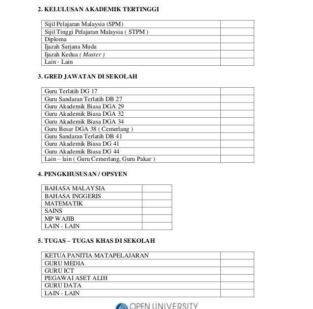 Contoh Borang Soal Selidik Futsal Galau Id