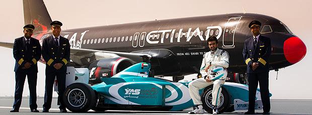 evento promove yas marine avião Abu Dhabi ingressos Fórmula 1 (Foto: Divulgação)