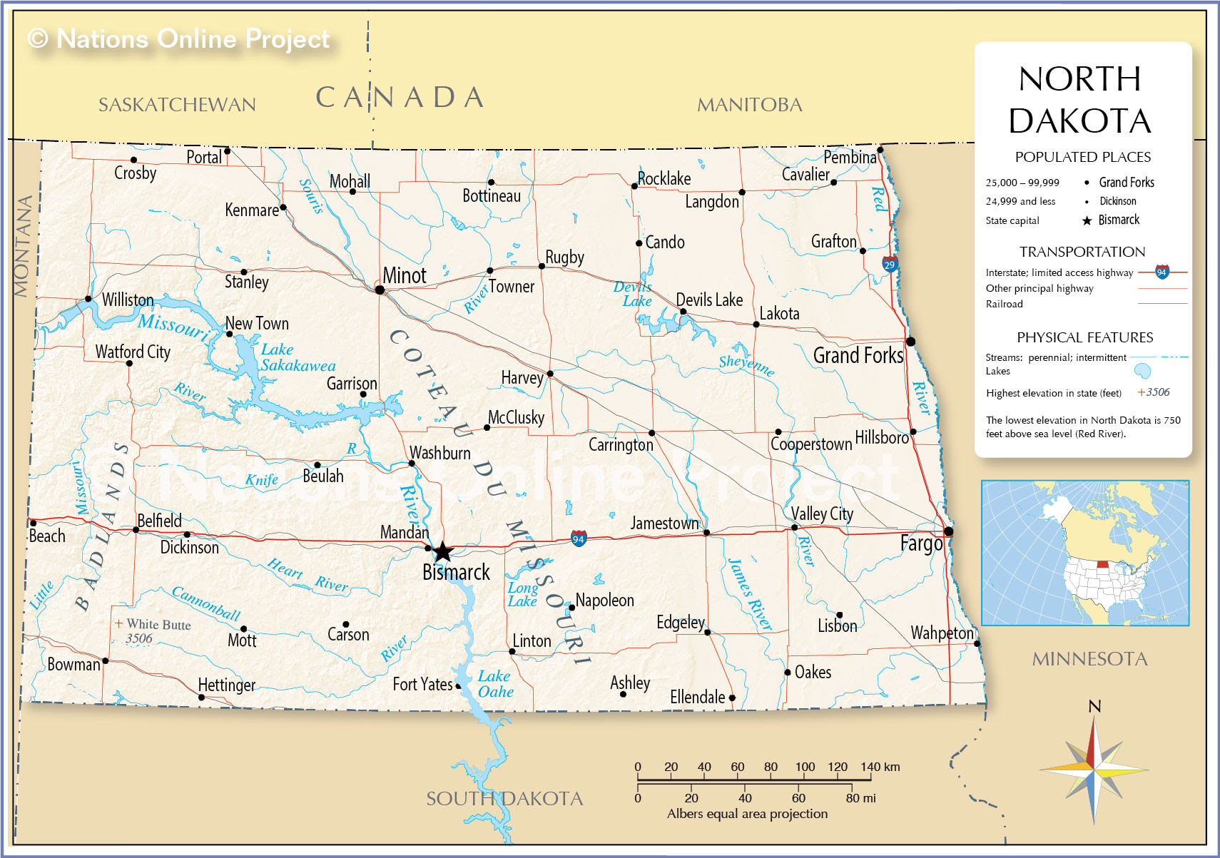 north dakota on the us map Us Map With North Dakota north dakota on the us map