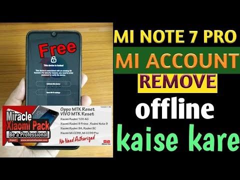 Redmi note 7 pro mi account miracle xiaomi 1.56   bypass mi account miracle free   miracle auth free