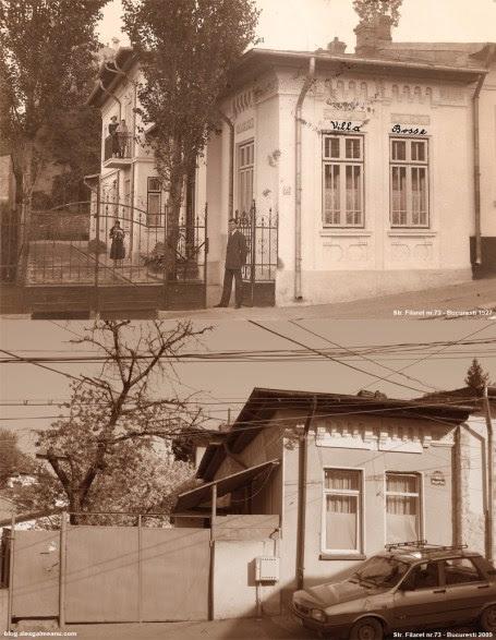 """""""Villa Bossa"""" in 1927 si in 2009"""