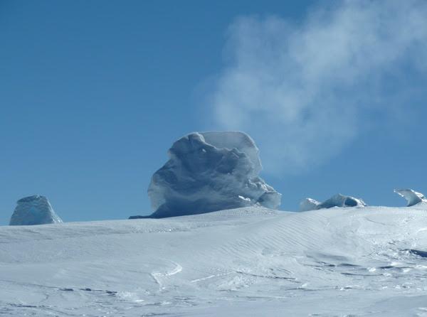 Pemandangan indah di Gunung Erebus
