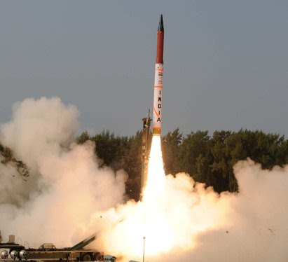 India tests 5,000-km range Agni-V missile