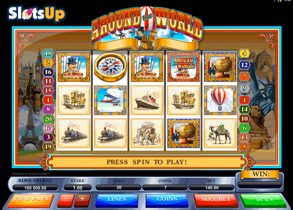 Around the world slot machine online microgaming software