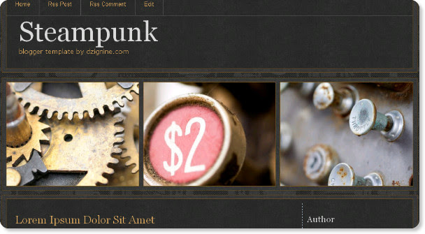 Steam Punk Porfessional Template