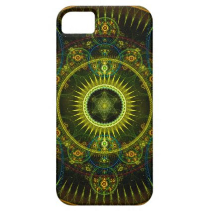"""Metatron's Magick Wheel"" - Fractal Art iPhone 5 Case"