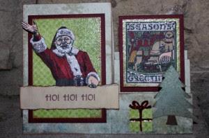 Seasons Greetings Side Step Card