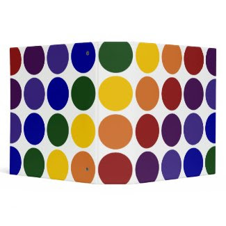 Rainbow Polka Dots on White