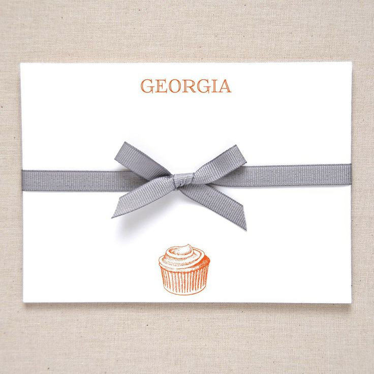 Cupcake Correspondence Card - Bespoke Stationery  from Fraser & Parsley.  £20 for a set of 10.