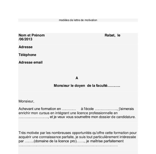 Application Letter Sample Mod 232 Le De Lettre De Motivation