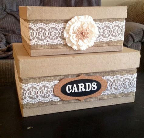 DIY  Country wedding card box!!   Wedding   Pinterest