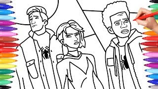 83 Top Coloring Pages Of Spider Man Into The Spider Verse For Free