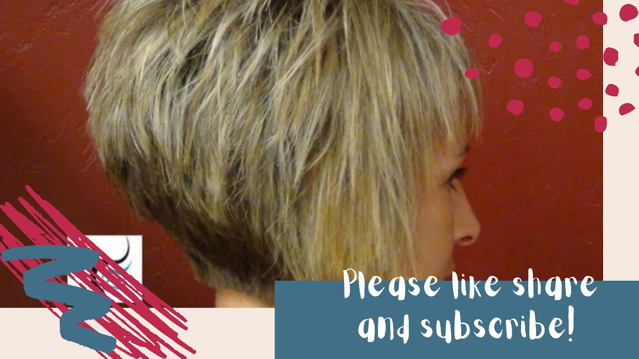 How To Do A Short Stacked Haircut with Straight Bangs Girl ...