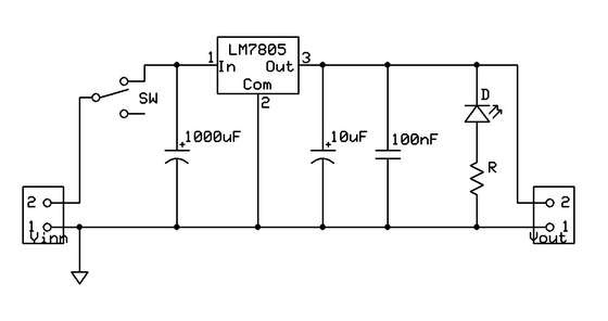 Another Implementation Of Previous Voltage regulator Circuit