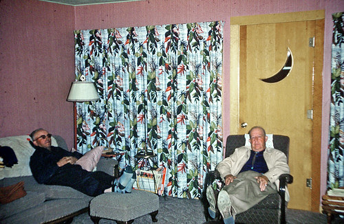 Frank Fowlie and Ward Gillespie relax in Lake View