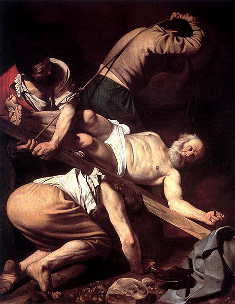 Ficheiro:Caravaggio-Crucifixion of Peter.jpg