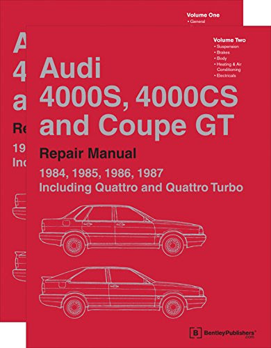 Adam Library    Download Audi 4000s  4000cs And Coupe Gt