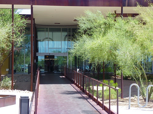 View of entrance walk way -  Desert Broom Library