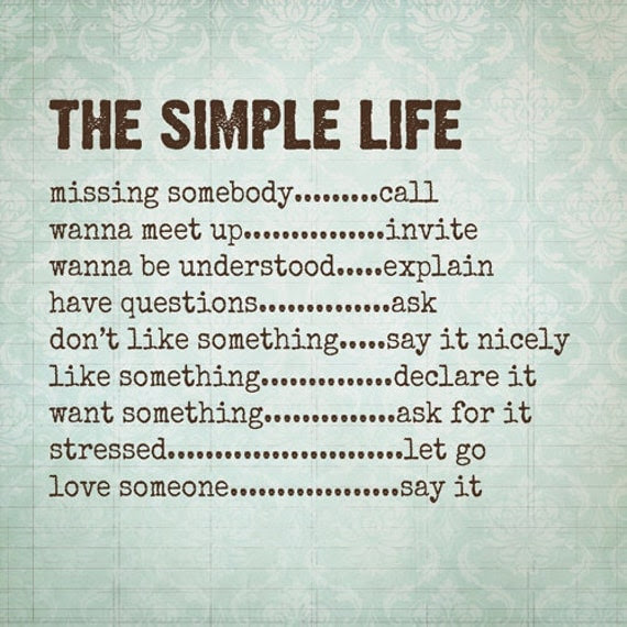 Inspirational Quotes About Simple Life. QuotesGram