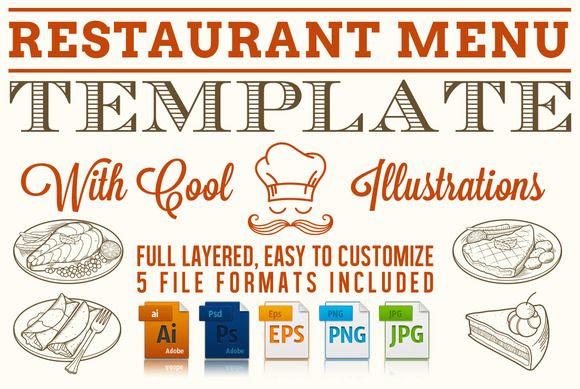 Editable Restaurant Menu Template   Creative, Restaurant and ...