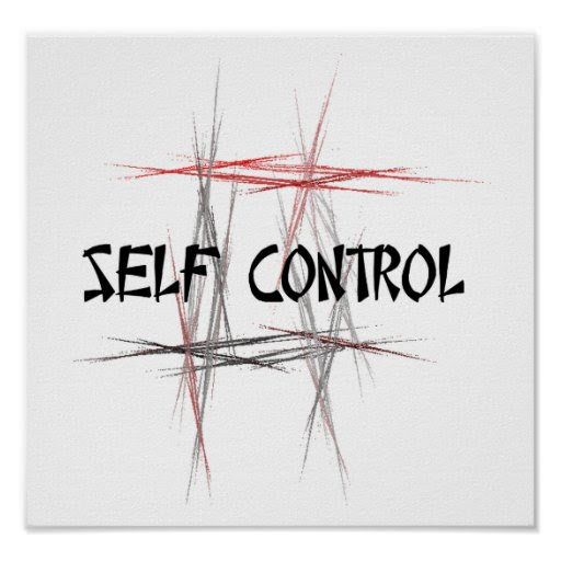 Martial Arts Self Control Poster