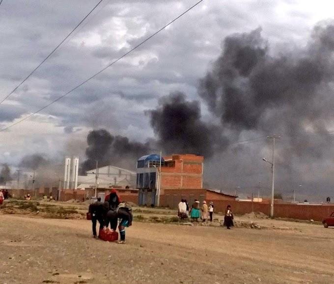 Grupos de choque del MAS quemas y saquean barrios de La Paz, El Alto y Zona Sur