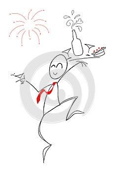 Happy new year! - clip art