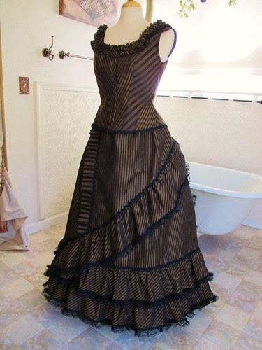 steampunk dress progress
