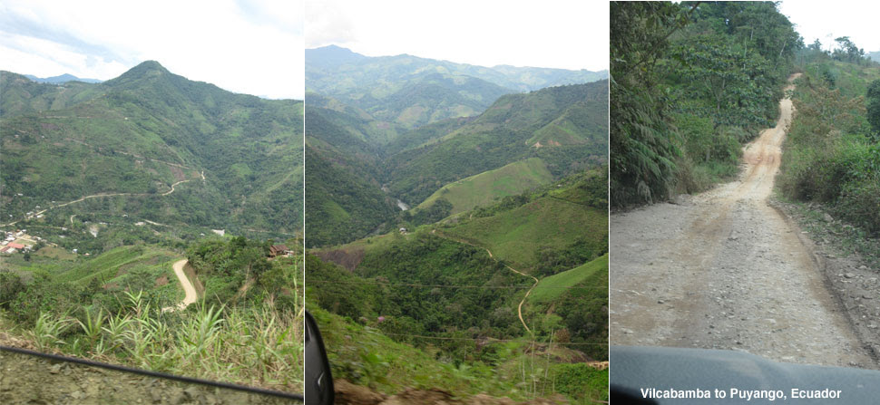 from la Balsa border crossing to Vilcabamba