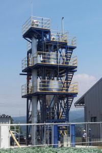 ジャパンブルーエナジーの木質バイオマスを使う水素製造実証プラント
