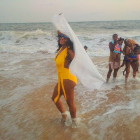 Ini Edo Flaunts Sexy Beach Body