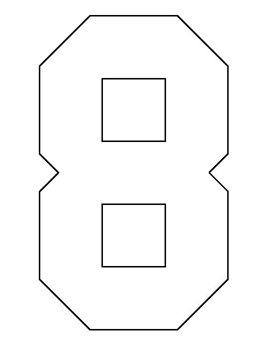 Number 8 pattern. Use the printable outline for crafts, creating ...