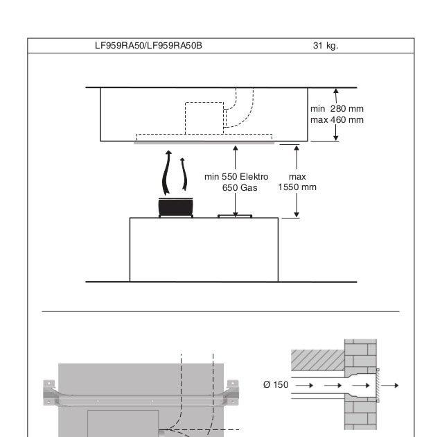Siemens Dunstabzugshaube Montageanleitung   Einfache Montage Der Oranier Kopffreihauben Inkl ...
