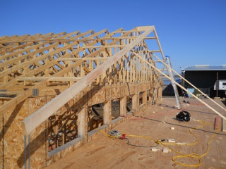 House Roof Gabled Overhang Braces Long View