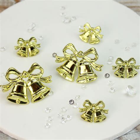 Gold Plastic Bow & Double Bells