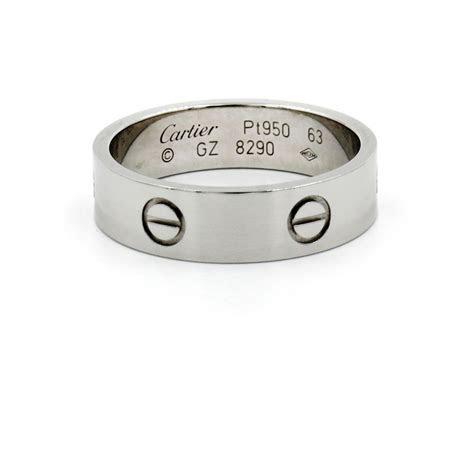 Cartier Platinum Love Ring Size 10.5   6mm Wedding Band